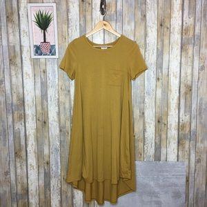 Lularoe Golden Ochre Carly Swing Dress